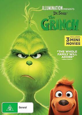 THE GRINCH (2018): Dr. Seuss, Animation, Comedy, Family + Minis - NEW Au Rg4 DVD