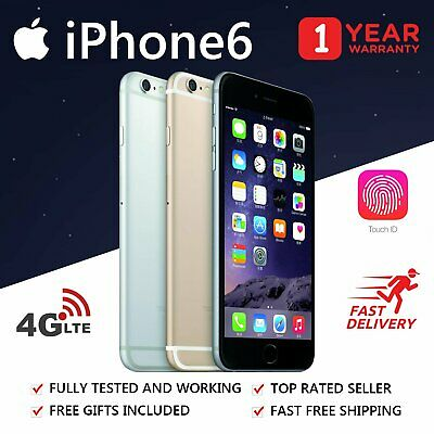 LIKE NEW Apple iPhone 6 16GB 64GB Smartphone 4G GSM LTE 100% Unlocked