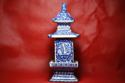 Rare Antique Blue and white porcelain jar pagoda in ancient China  .