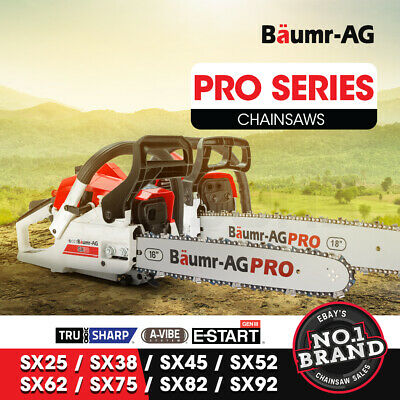 Baumr-AG Petrol Chainsaw Commercial Bar Tree Chain Saw 25cc 52cc 62cc 82cc 92cc