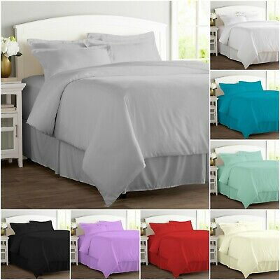 Duvet Cover Set Hotel Quality Percale Quilt Covers Single Double Super King Size