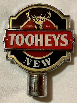 Tap Handle Tooheys New Plastic Beer Top Double Sided Mancave Australia Lager