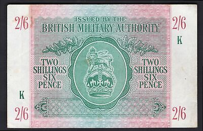 GB Military: British Military Authority. 2 shillings & 6 pence. (1943). K = A...