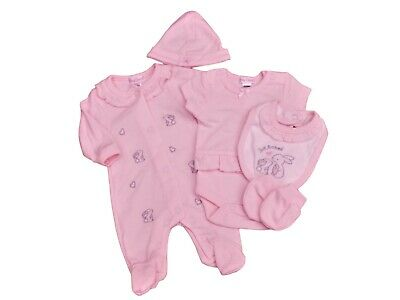 BNWT Tiny Premature Preemie Baby pink Girls easter bunny Layette 3-5lb & 5-8lb