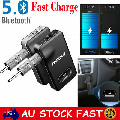 Bluetooth 5.0 Wireless Stereo Receiver 3.5mm AUX Audio Streaming Adapter Car Kit