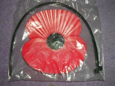 BRITISH LEGION Poppy Car Badge Complete With Ties 5 x 3.5 ins  The Poppy Appeal