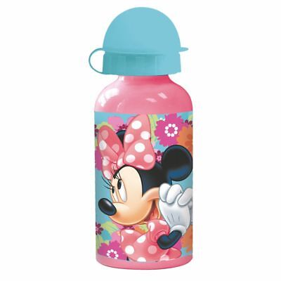 Botella de Aluminio | Rosa 400 ml | Disney Minnie Mouse | Niños Cantimplora