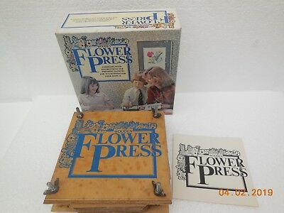 Vintage Wooden Flower Press ~ Ref #749 ~  Michael Stanfield, 1979