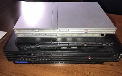 Lot of 3 Sony PlayStation 2 PS2 Fat Slim Original Consoles Only For Parts/Repair