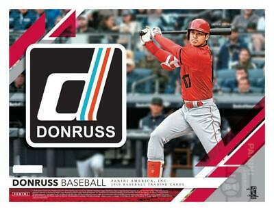 2019 Donruss Baseball Cards Variations and Short Prints Pick From List