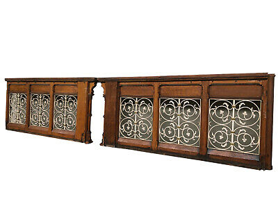 Ornate Antique French Gothic Church Railing, Turn of Century, Nice Architectural