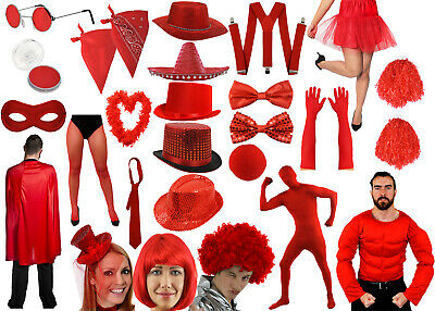 Red Nose Day Comic Relief Fancy Dress Costume Accessories Choice Kids Adults Lot