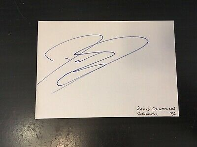 David Coulthard - Formula 1 Racing Driver - Signed Autograph Album Page