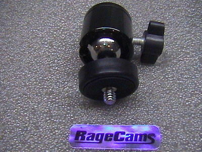 "RageCams Industrial Grade Omni Pan Tilt Swivel Ball Mount 1/4""-20 Locking Nut"