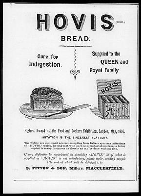 1895 Antique ADVERTISING Print - HOVIS BREAD Biscuits Royal Suppliers  (28)