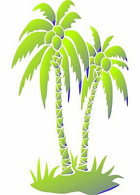 PALM TREES STENCIL Reusable Tropical Island Coconut Tree ...