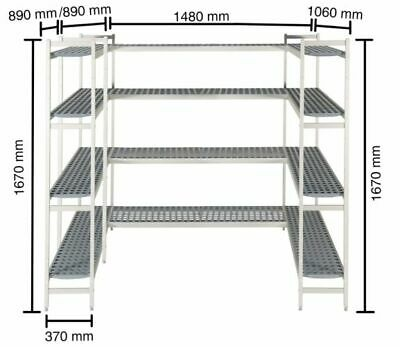 Shelf System for Cold Rooms 1480x890x890x1060mm