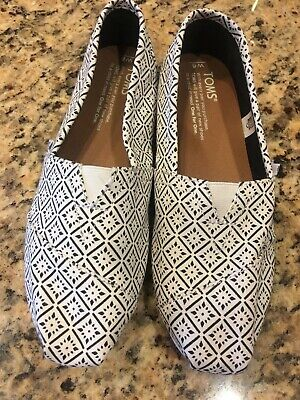 0d3632cd38d NEW TOMS WOMENS Geo Embroidered Women s Katalina Espadrilles Shoes ...