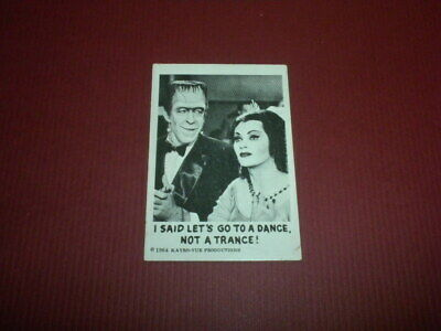 THE MUNSTERS trading card #62 Leaf Brands U.S.A 1964 Kayro-vue