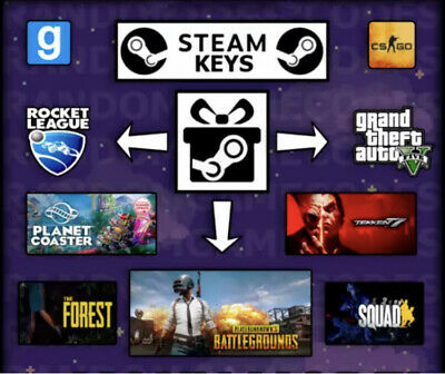 5 Random Steam Keys (CSGO /PUBG /ROCKET LEAGUE/ TEKKEN) BRAND NEW/ GLOBAL!
