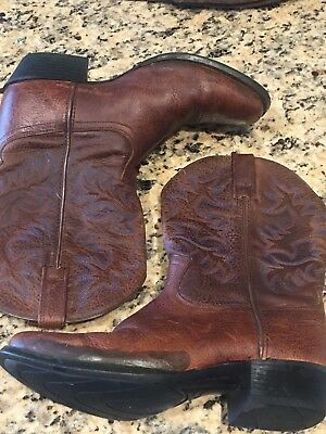 1447b6c045a ARIAT LEGEND BROWN OILED ROWDY WESTERN BOOTS 10002020 Sz 36 5 ...