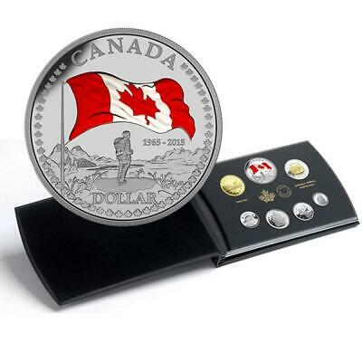 2015 Canada Double Dollar Silver Proof set 50th Anniversary of the Canadian Flag