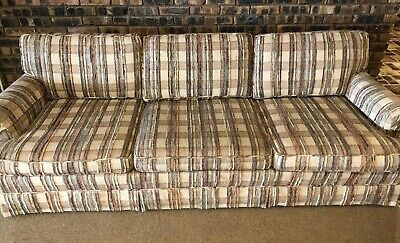 Antique Vintage Baker Furniture 3 Cushion Couch Sofa