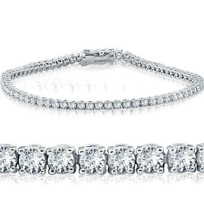 F/VS 2cttw Round Diamond Tennis Womens Jewelry Bracelet 14KT White Gold 7""