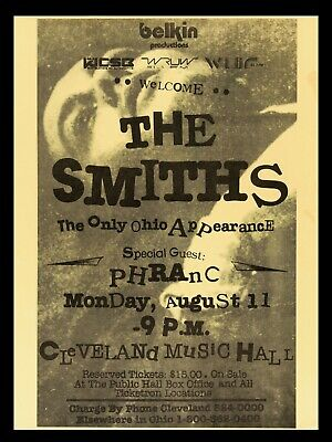 "The Smiths Cleveland 16"" x 12"" Photo Repro Concert Poster"