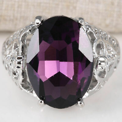Huge Natural 6Ct Ring Bridal Wedding Engagement  Alexandrite Topaz