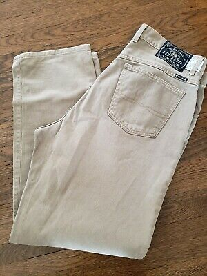 13250c04 MENS LUCKY BRAND #1 RELAXED FIT ZIPPER FLY Brown Khaki Vintage JEANS SIZE  38 USA