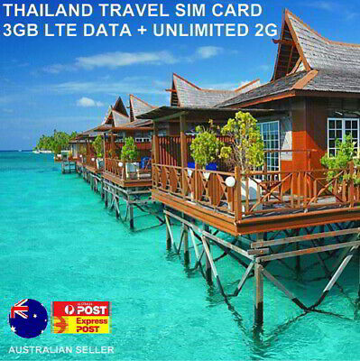 Sale! 8 Days Thailand Travel SIM Card | 3GB data + Unltd 2G | 100 Baht calls
