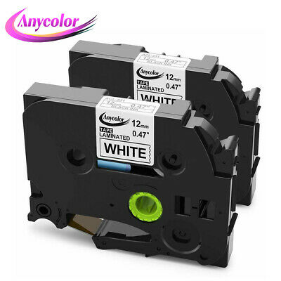 2PK Compatible Brother P-Touch TZe Laminated Label Tape TZ TZe231 Black on White