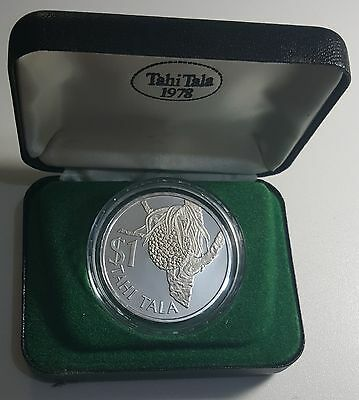 1978 Tokelau Tala KM# 1a Silver Proof Coin 5000 Minted
