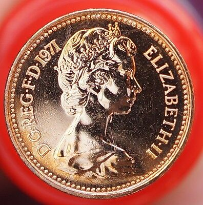 1971 UK Great Britain Halfpenny KM# 914  Proof Coin