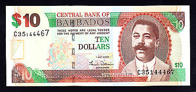 Unc P 71 B 2009 Provided Barbados 100 Dollars 2007