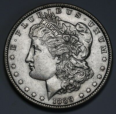 1889  P US Morgan Dollar $1 KM# 110 AU/UNC   Coin +Lustre