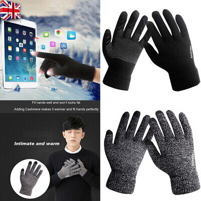 Mens Women Thermal Insulation Touch Screen Winter Warm Gloves For Smartphone Y