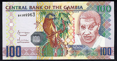Gambia 100 Dalasis P. 29a UNC African Note  Prefix B