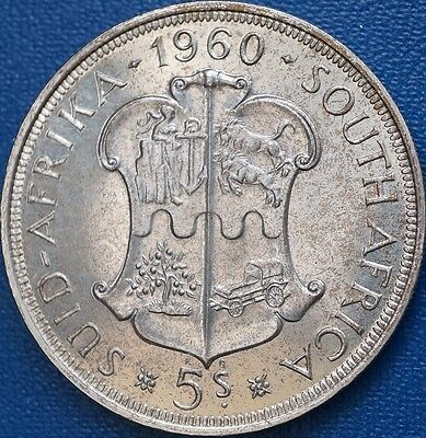 1960 South Africa 5 Shillings KM# 55 Proof Crown  Silver Coin Only 3360  Minted