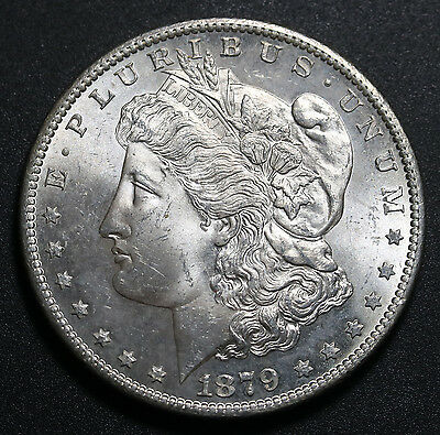 1879 S US Silver Morgan Dollar $1 MS UNC Coin w/ Carthweel Luster