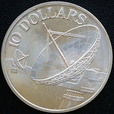 1978 Singapore 10 Dollars KM# 17.1  Silver MS UNC Coin