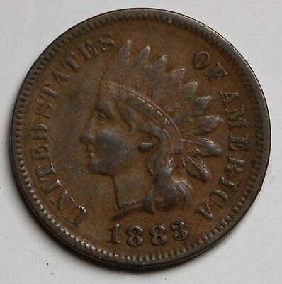 1883 US Cent  Indian Head Cent/ Penny KM# 90a