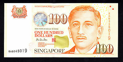 Singapore $100  1999 Red Cross St.john Police Scout Unc Note  P. 42