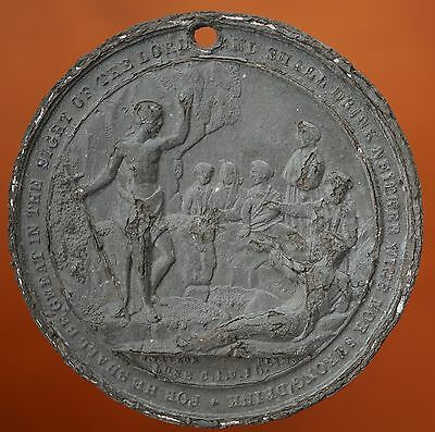 UK Great Britain Temperance Society 19th Century ND Medal White Metal