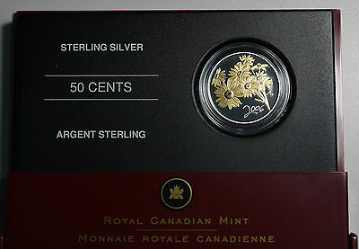 2006 Canada 50 Cents 50c Sterling Silver Proof Coin Golden Daisy  GEM FDC