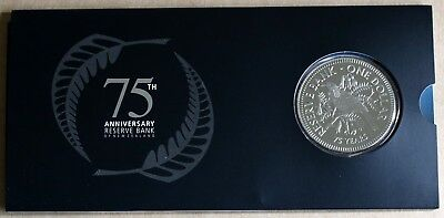New Zealand 2009 BU Dollar $1 75th Ann of Bank of New Zealand 1500 Minted RARE
