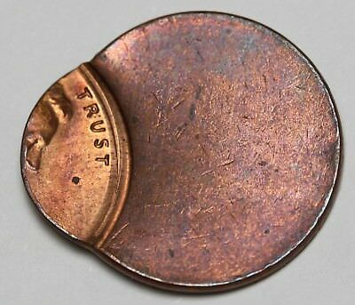 US Lincoln Cent / Penny Mint Error Hugely Off Center No Date