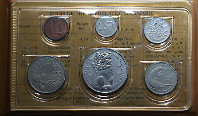 Singapore 1983 Year of the Boar Coin Set - UNC / BU Coins Excellent Condition