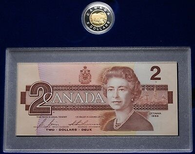 1996 Canada Proof $2 Toonie Coin & Prefix BRX Replacement  Note Set Box COA #968